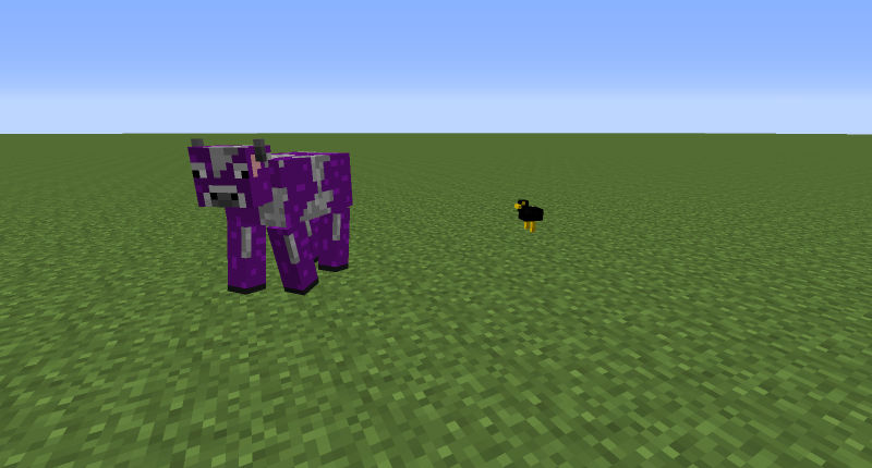 The two new mobs in the mod.