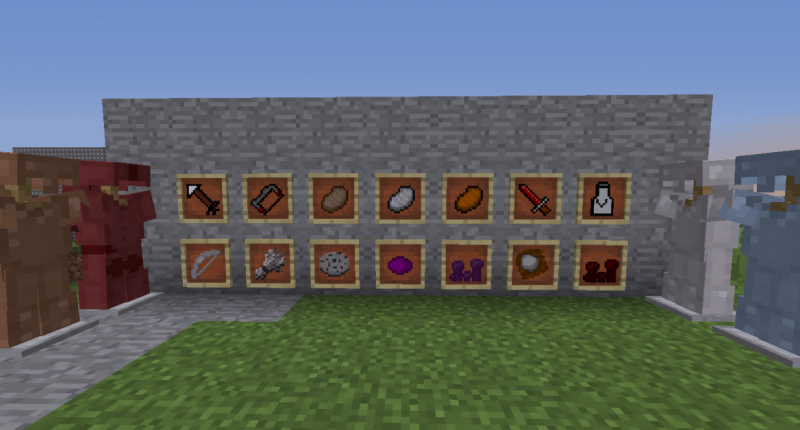 Some of the items in the mod