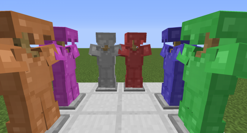 A picture of all the new armor.