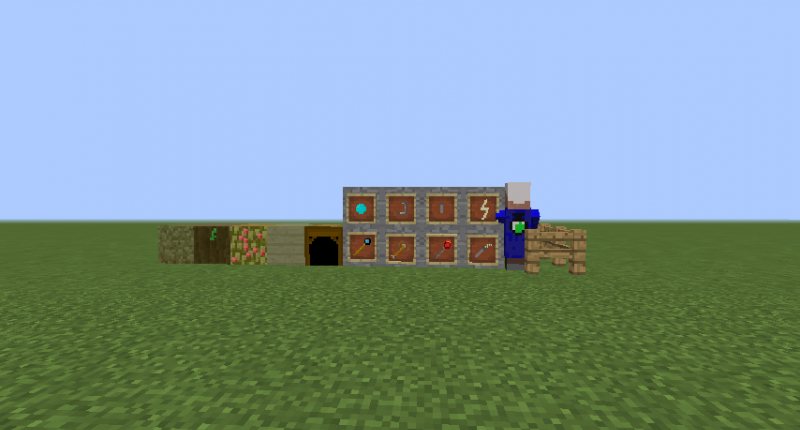 This Mod adds 5 blocks 8 Items, 1 mob and 1 biome