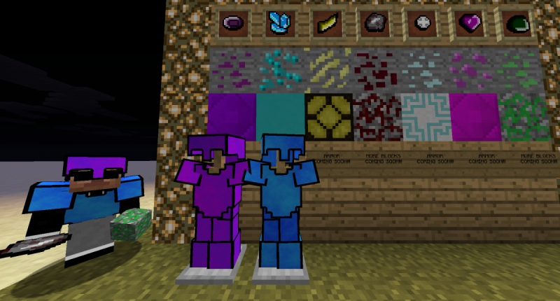 These are all the ores, blocks, and armor of the mod! Here is a tip.. balazza is best