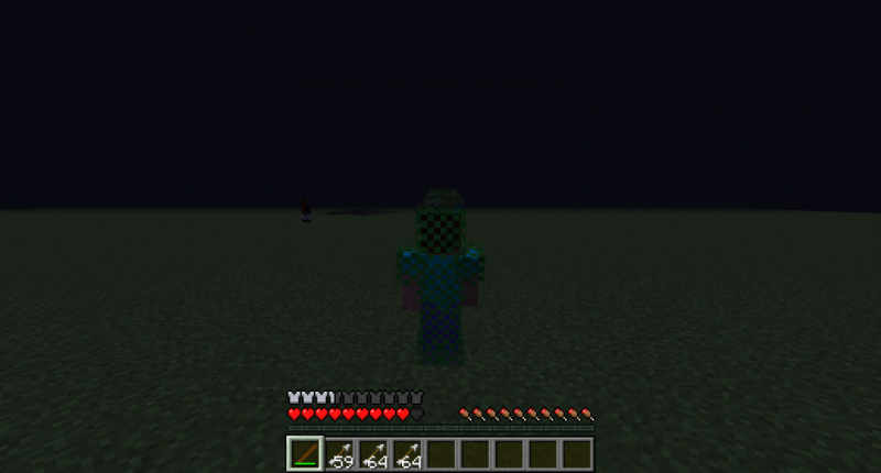 This is me battling mobs with Leaf Armor and a Dart Gun