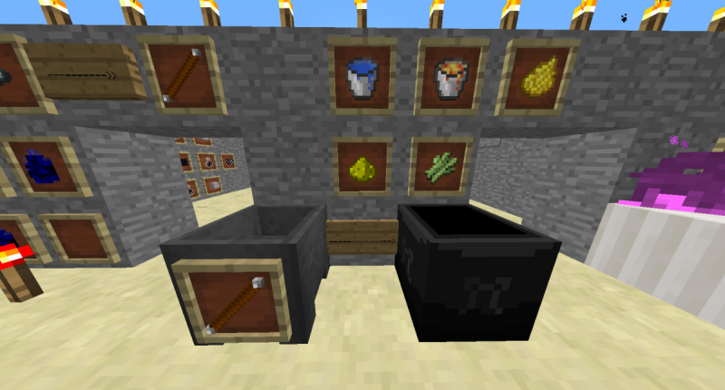 Cauldron, wand and magic items...