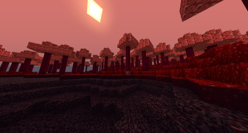 The bloodlast biome, one of the new forest...
