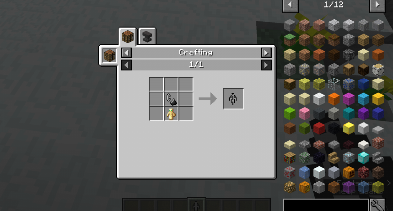 Crafting recipe for portal igniter