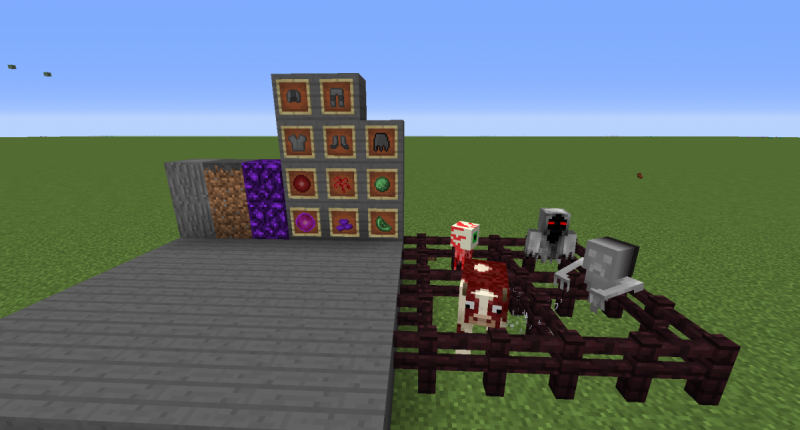 All blocks, items and mobs