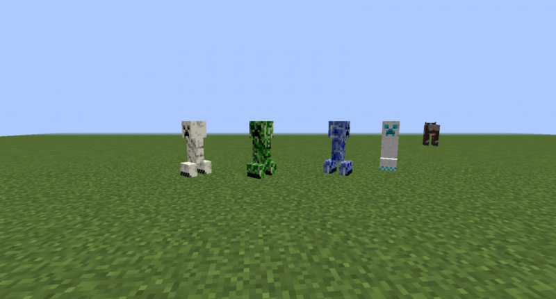 These creepers spawn depending on the biome, they also have the same physics of creepers