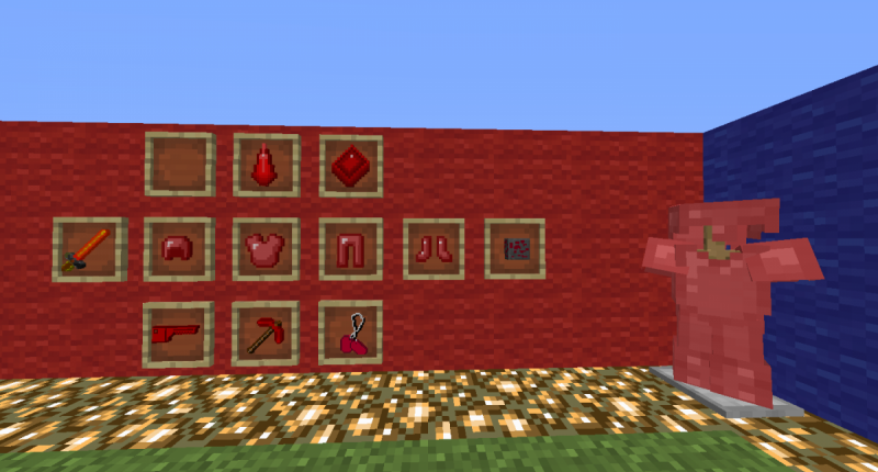 Red is stronger than yellow. ( Any one of the armor four pieces gives Fire resistance, Great for Nether exploration.)