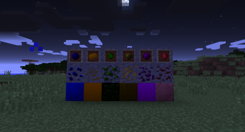 All Ores, Blocks and Gems as of Beta 1.0