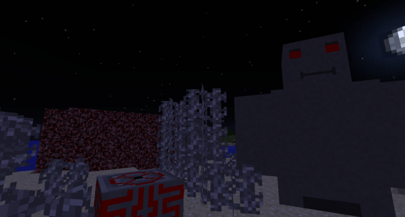 A Final Golem, Golem Summoner, Fake Nether and Rock Spires in the Overworld.