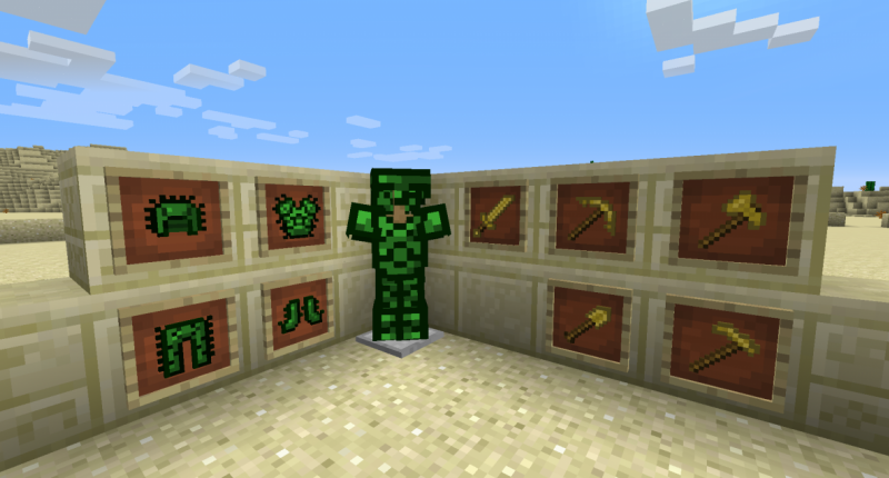Conquer the desert with new Cactus Armor and Sandstone Tools.
