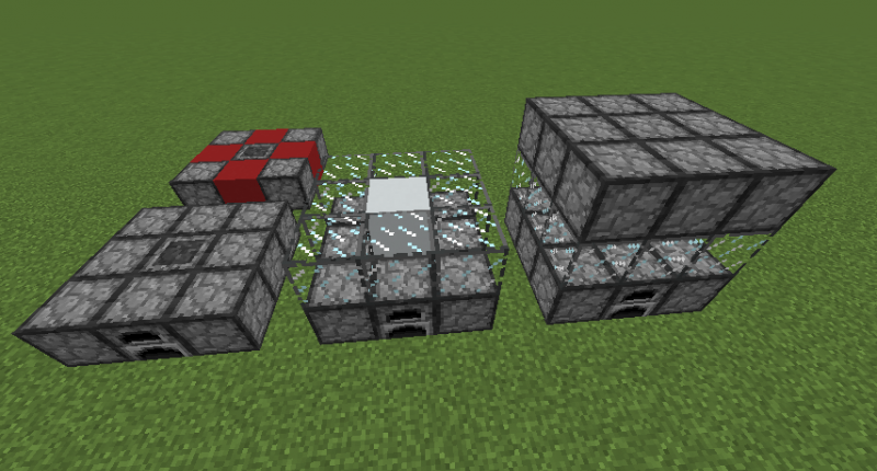 How to build it! Red is optional place for a redstone controller or fluid export; however, one of those places must be a heater no matter what. The white must be air.