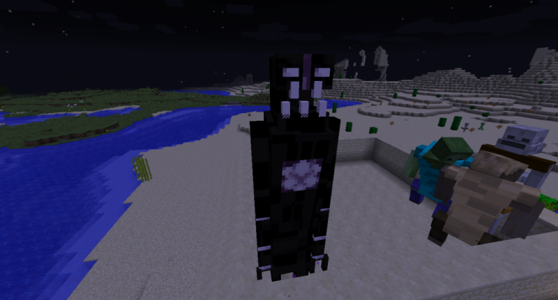 The hulking Enderman