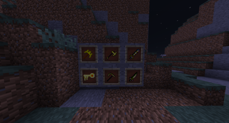 Here is some tools of the mod, there are armors too.