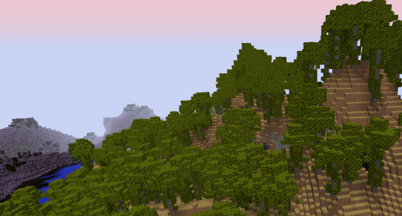Thatch Forest Biome (With Moor in background)
