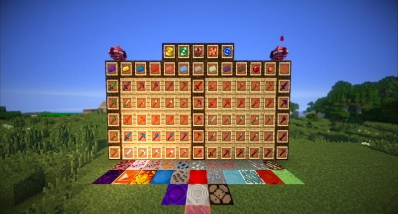 Most of DovahCraft's Blocks, Items, etc.!