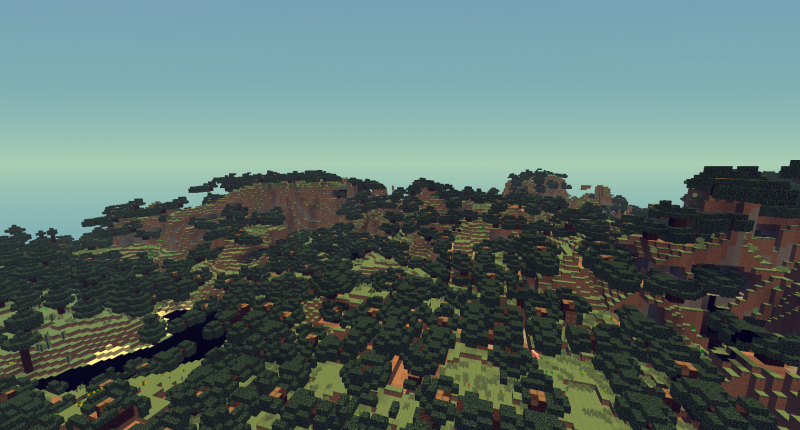 One of the new biomes of the mod.