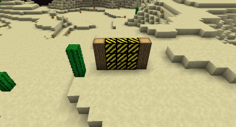 Black and yellow decorative block
