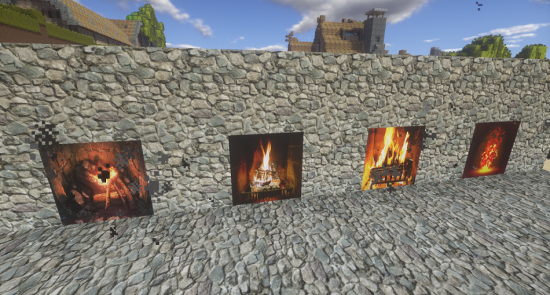 animated fireplaces with smoke particles