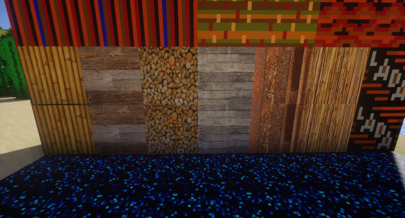 wood ,one misc block and animated blue floor