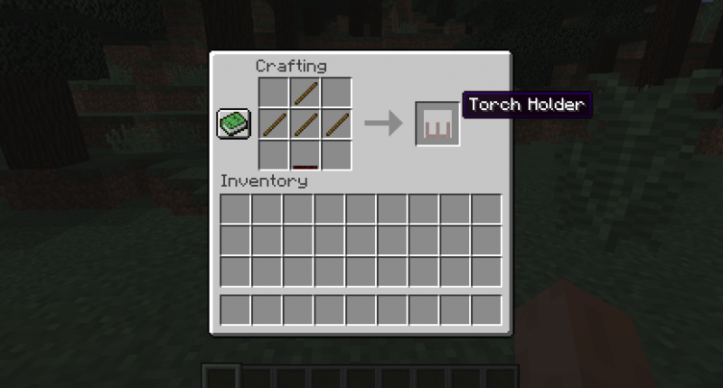 How to craft a Torch holder (No Torch)
