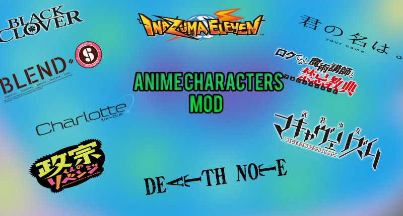 Anime Characters Mod Title