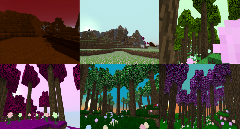 All Biome of the mod