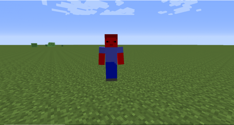 Rubized Steve, a hostile mob that spawns in Ruby biomes
