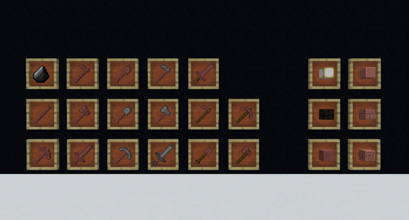 All of the current items/blocks  in the mod