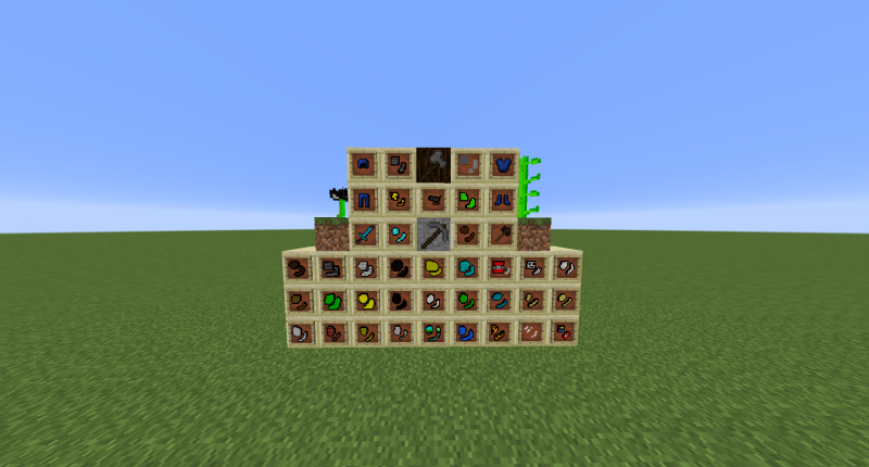 A Picture Of All Of The Items And 2 Blocks And 2 Plants!