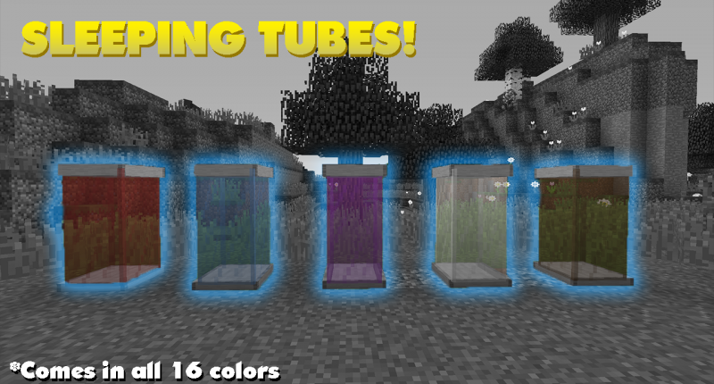5 of the 17 Sleeping Tubes