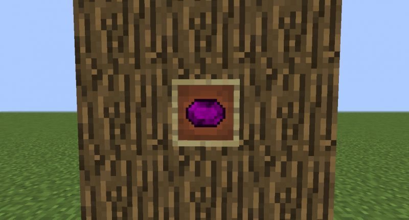 Amethyst Gem you get when you melt Amethyst Ore.