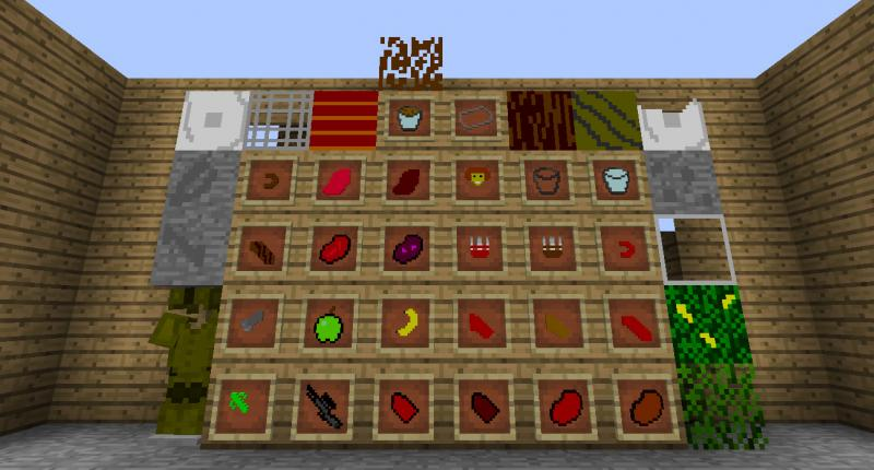 all weapons item's blocks and the armor