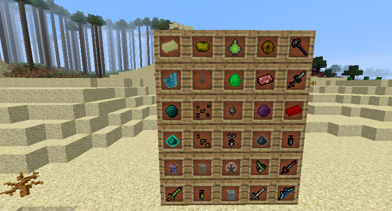 Some Of The Modded Items.