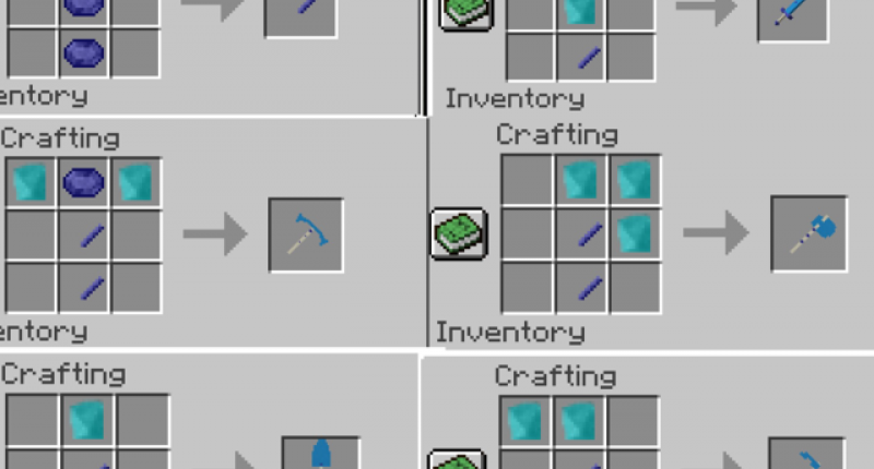 this is the crafting recipes for the non-self-eplaintory items