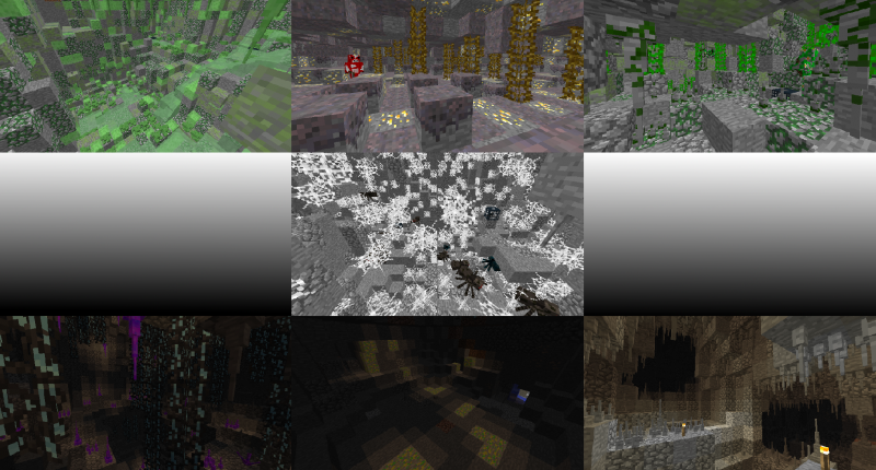 if you thought cave decorations wasn't enough, there are more types of generated caves!!