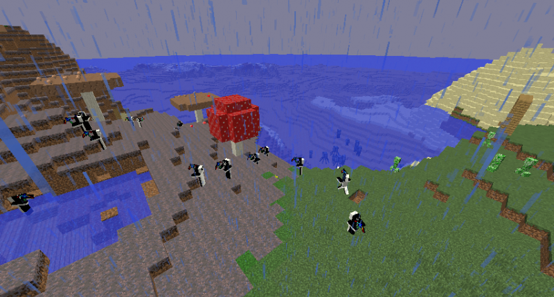 Three biomes put together, along with the portal.