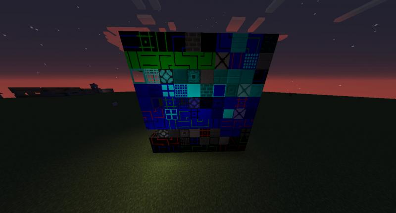 All blocks in night time