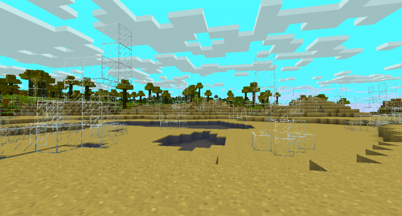 Structure in Glass Desert Biome