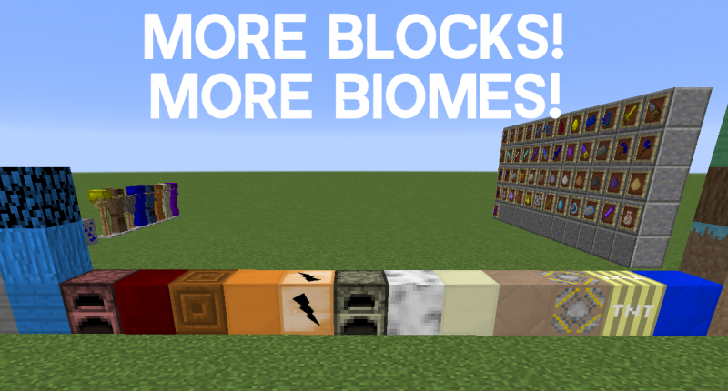 Blocks for you to craft and use!