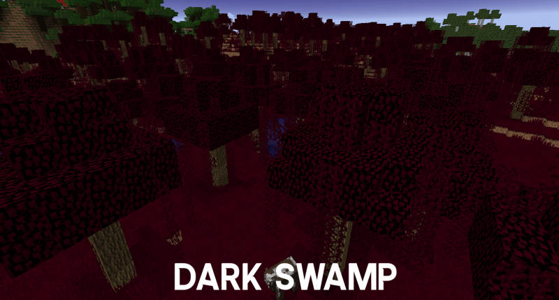 A deep red biome that is very dark