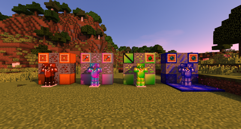 All Ores with their Respective Blocks, Armor, and Special Tools