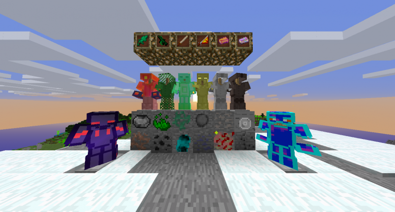 all ore, some armor and some item of mod. (outdated)
