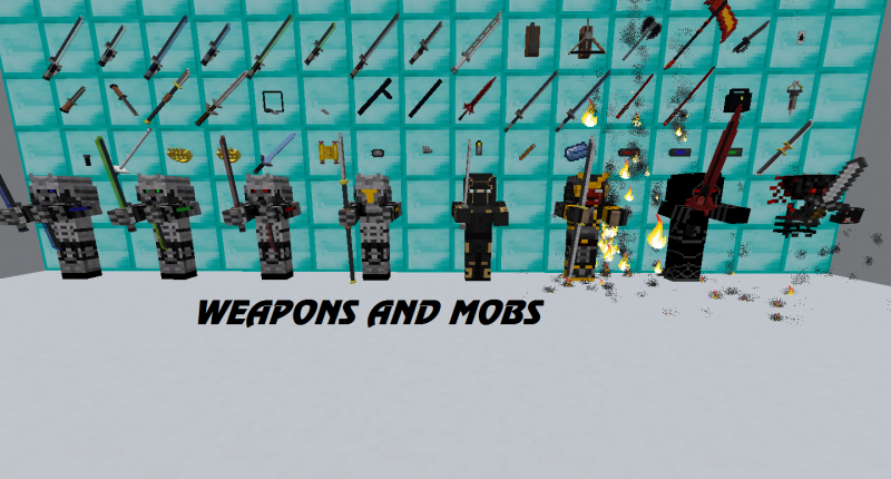 Weapons and mobs