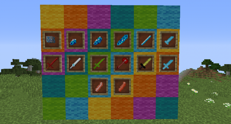All the items you can find now on the mod