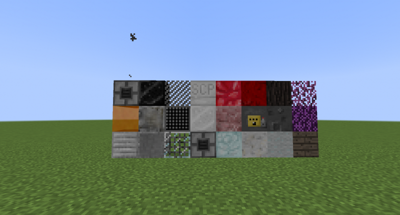 These are some of the blocks in the mod.