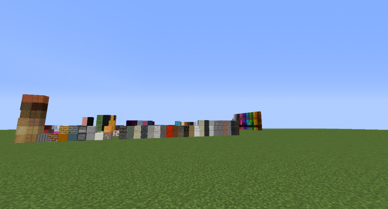 These are all the blocks that spawn in the Overworld