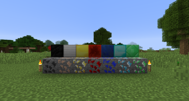 All Dense Ores With Respective Blocks!