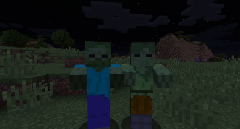 Male Zombie and Female Zombie