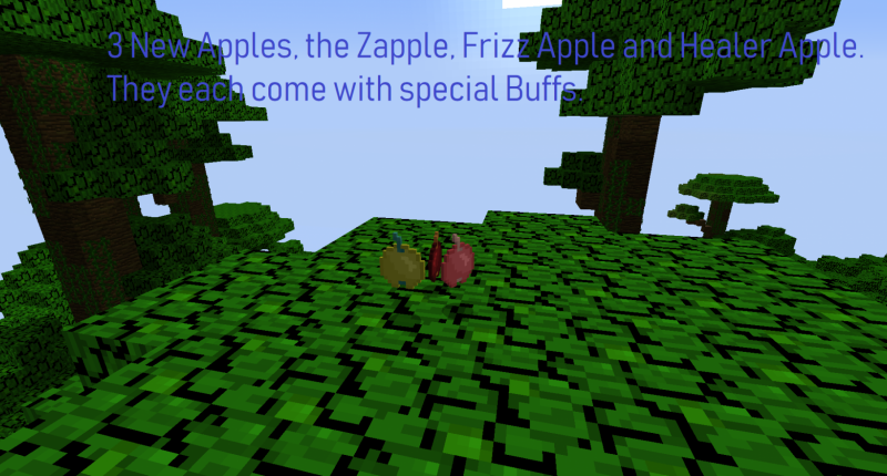 Three new Apples with buffs to greatly enhance your abilities.